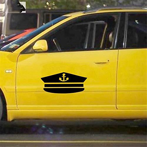 17.3Cmx7.9Cm Schip Kapitein Hoed Auto Sticker Motorfiets Decor Sticker