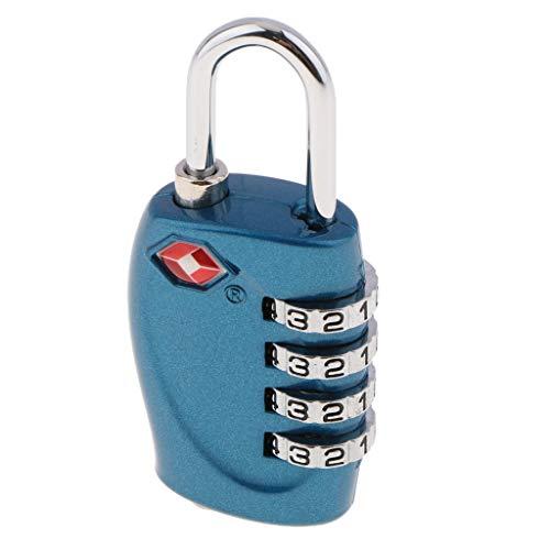 gazechimp Serrure à Combinaison à 4 Chiffres TSA Code De Cadenas TSA330 - Bleu profond