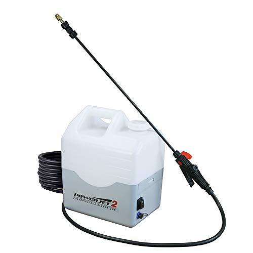 Pulvérisateur électrique Powerjet 2: Projette à 10 mètres de haut. Autonomie de la batterie: 5 Heures.