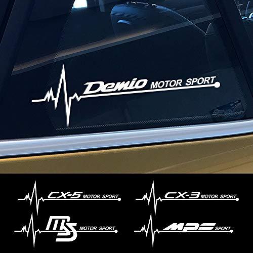 FSXTLLL Auto Fenster Aufkleber Autoaufkleber Sticker, für Mazda Demio CX 5 CX5 CX 3 CX3 Axela Atenza MS MPS