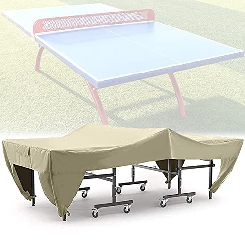 Gettop Tischtennisplatte Abdeckung | Wasserdicht Schutzhülle für Tischtennisplatte Outdoor/Indoor | UV-Beständiges + Winddicht (280x154x76cm/ 110.2x60.6x29.9in)