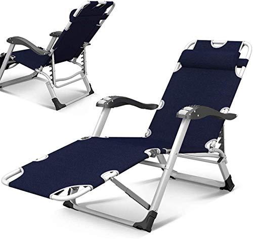 BANNAB Silla Zero Gravity con cojín Acolchado, reposacabezas Plegable para Uso en Exteriores, Camping, Playa, Tumbona reclinable, Tumbona