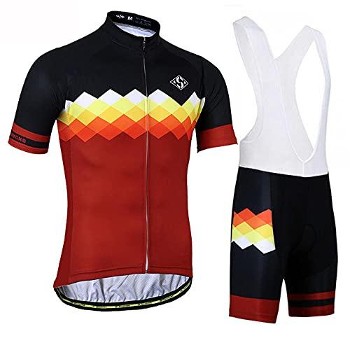 HXTSWGS Jersey de Ciclismo Transpirable para Hombre Ropa de Bicicleta de Manga Corta Camiseta de MTB Superior para Bicicleta Transpirable Summer-A13_S
