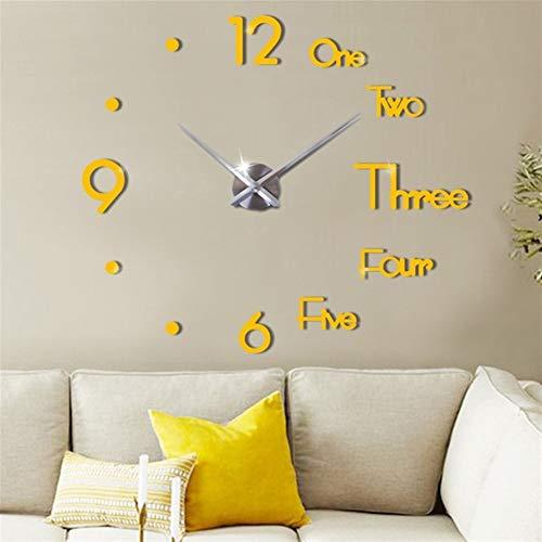 reloj de pared ZXY Minimalista Moderna Sala de Estar Corte Libre Creativo DIY Reloj de Manera de la Personalidad del hogar del Reloj de Estilo Europeo Reloj de pared-10.24