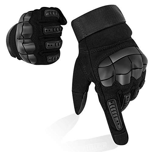 YuamMei 1 Par de Guantes de Protección Completos, Guantes de Contacto con Dedos Completos para Sillines, Bicicletas, Motocicletas, Entrenamiento al Aire Libre, Caza, Senderismo, Cross Country(XL)