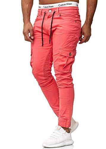 OneRedox Herren Chino Pants | Jeans | Skinny Fit | Modell 3207 Lachs 30/32