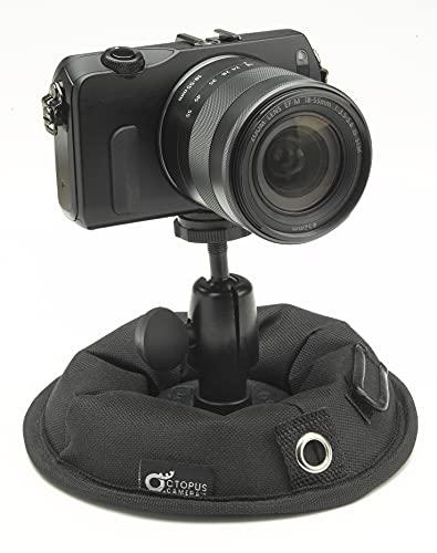OctoPad: Base de soporte universal y Mini Trípode de Mesa, para Viaje, Cámara EVIL, Cámara Action 360, Smartphone, Luz LED, Flash fotográfico, Selfie Stick y Micrófono. Con rosca universal de 1 4 .