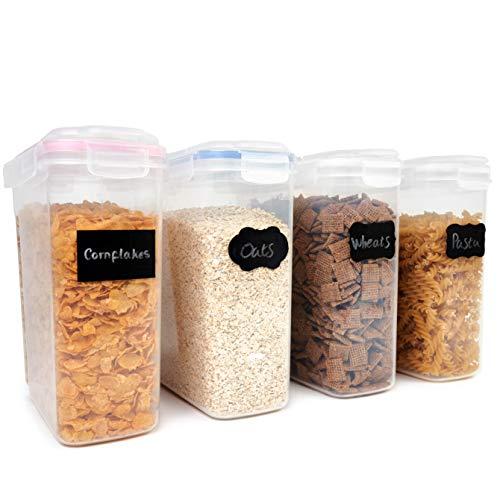 OS Oak & Steel ENGLAND 4 Stück Müslidosen mit Reinigungsbürste - BPA-Frei