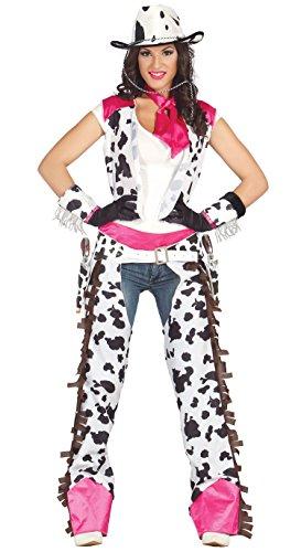 Rodeo Cowgirl - Kostüm für Damen Karneval Fasching Wilder Westen Western Gr. M - L, Größe:L