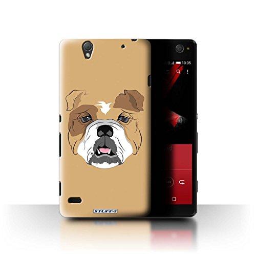 Stuff4 Var voor GG-CC Chocolade Sony Xperia C4 Hond/Bulldog