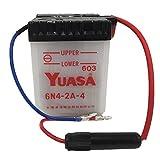 台湾 ユアサ YUASA 6N4-2A-4 バイク用開放式バッテリー 6V 【シャリィCF50 スーパーカブC50 パリエ ベンリイCD50 XL125S】