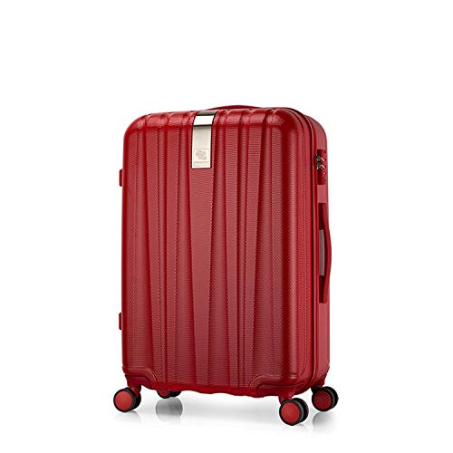"""Best Spinner Luggage Suitcase PC Trolley Case Travel Bag Rolling Wheel Carry On Boarding Men Women Luggage Trip Journey H80002,Red,24"""""""