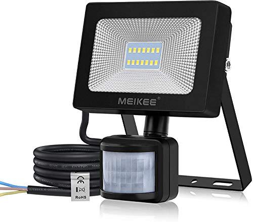 MEIKEE 15W LED Strahler mit Bewegungsmelder Superhell 1500LM LED Fluter IP66 Wasserdicht Außenstrahler 6500K Tageslichtweiß Scheinwerfer Außenbeleuchtung für Hof, Garage,Garten