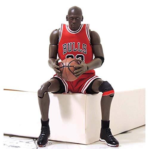 NBA Estrella De Baloncesto No. 23 Chicagobulls Michael Jordan Action Figure, Estatuas De Juguete 23.5Cm PVC De Protección del Medio Ambiente, Adecuado para La Colección De Ventiladores