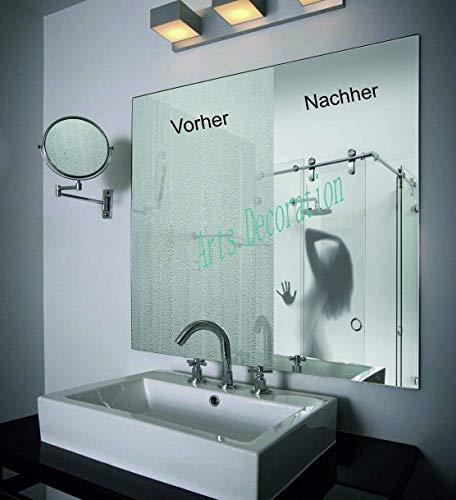 Spiegelheizfolie | Anti-Beschlag Spiegelfolie | Kein beschlagener Spiegel mehr (600 x 800 mm)