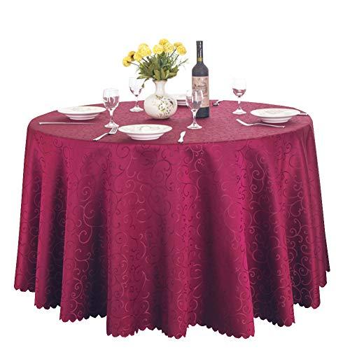 Premium imprimé table circulaire couverture parfaite pour les dîners, Noël, F, Ou utilisez tous les jours-vin rouge diamètre300cm(118inch)