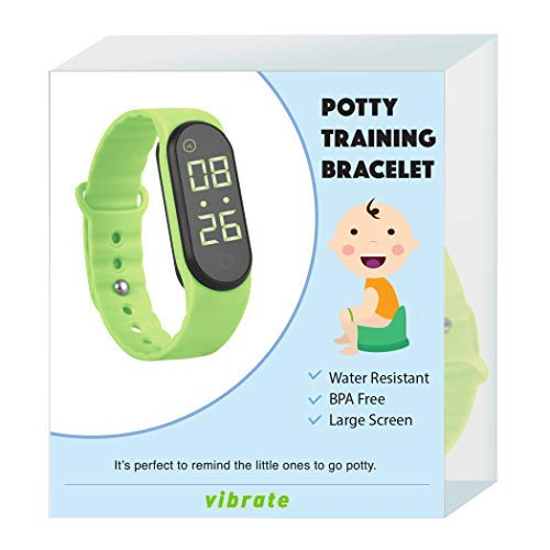 The New Designed Potty Training Bracelet (Green) with Vibrating Function and Small Sized Watchband - Made with 100% Non-Toxic, BPA/Latex Free Silicone Rubber …
