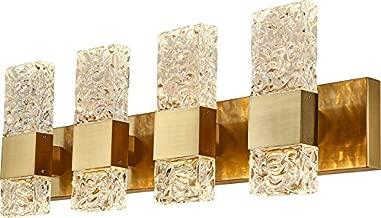 LED Crystal Gold Bathroom Vanity Lights Fixtures Modern 40W Brushed Stainless Steel Wall sconces for Bathroom Lighting Fixture 3000K