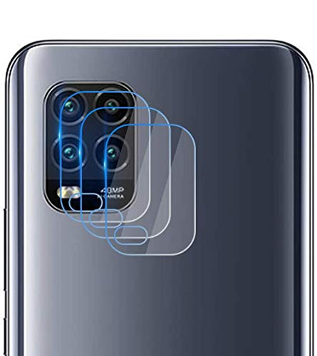 NOKOER Protector Cámara para Xiaomi Mi 10 Lite 5G/Mi 10 Youth, [3 Pack] Protector de Pantalla Cámara, 2.5D Película de Protección de Vidrio Templado Resistente a Los Arañazos - Transparente