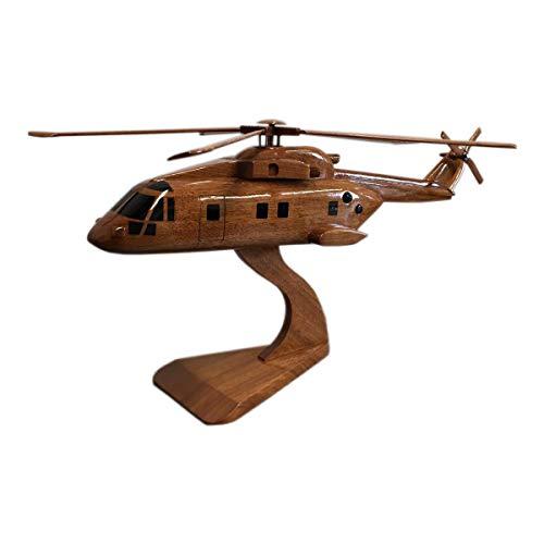 Merlin RAF Hubschrauber/AgustaWestland AW101 – Militärflugzeug – Executive Holz Desktop Modell (Mahagony)