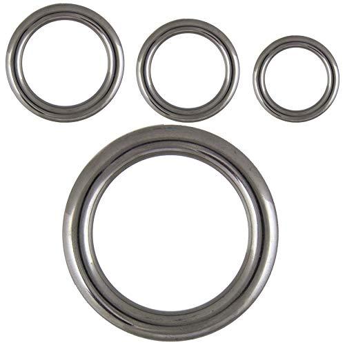 FASTON® Ring 6x35 mm geschweißt, poliert, Edelstahl A4 (V4A) (2 Stück) Metallring O-Ring Edelstahlringe Stahlring