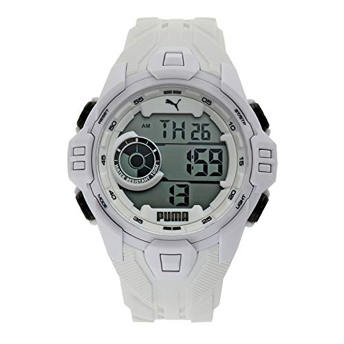 PUMA Men Bold Polyurethane Watch, Color: White (Model: P5039)