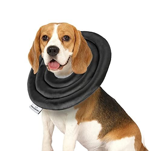 FOCUSPET Cone for Dogs After Surgery, Protective Dog Cone Soft Elizabethan Collar for Dogs & Cats Adjustable Recovery Dog Cones for Medium Dogs Water Resistant Dog Recovery Collars & Cones