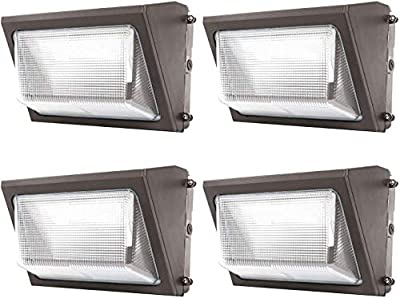 LED Wall Pack Lights 120W - 4 Pack 15600LM Wall Pack Lighting 5000K 10-year Warranty