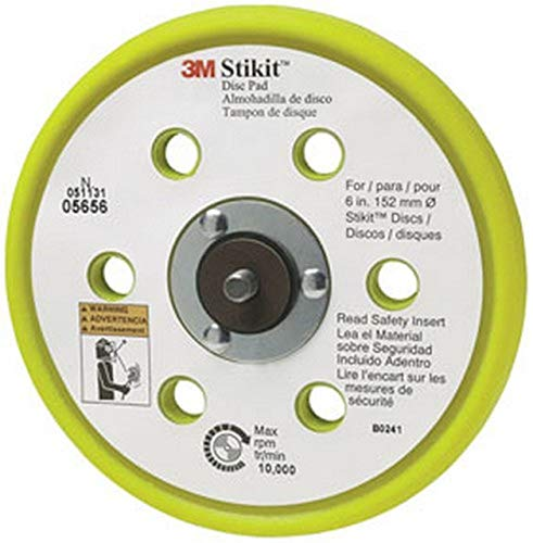 "3M Stikit Low Profile Abrasive Disc Back-up Pad, Dia 6 in, 3/8"" 5/16"", Sold as 1 Each"