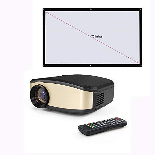 Draagbare led-projectoren, ingebouwde luidspreker, full HD 1080p, ondersteuning voor draadloos afspelen via verticale keystone (verdeling van 72-inch zacht gordijn)