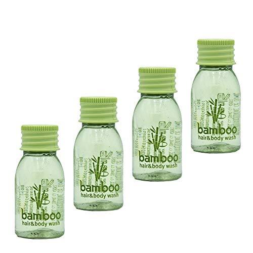 Awek.eu 600 Stück Hotel Einweg Shampoo Duschgel bath&shower gel 2in1 Flasche 20ml Bamboo Serie