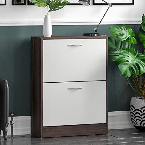 Home Discount Vida Designs 2 Drawer Shoe Cabinet Cupboard Shoe Storage...