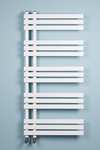 Warmehaus Designer Handtuchheizkörper Badheizkörper 1272x600mm weiß