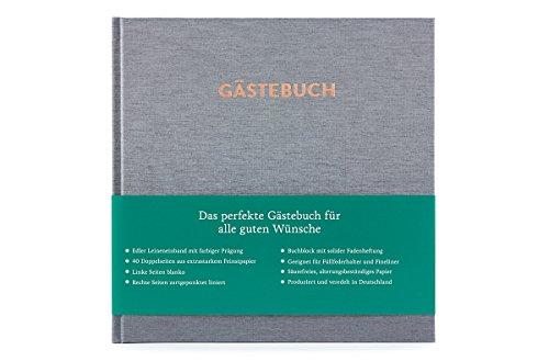 Glück & Segen Gästebuch Hugo (Silbergrau)