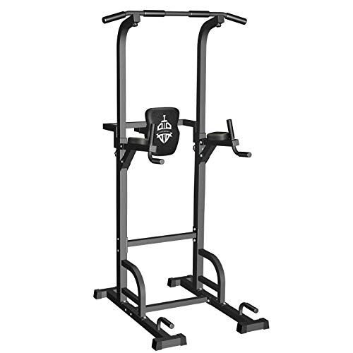 Sportsroyals Power Tower Dip Station Pull Up Bar for Home Gym Strength Training Workout Equipment,...