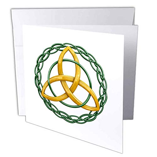 3dRose The Triquetra, or Trinity Knot, is a Celtic Symbol for Holy. - Greeting Cards (gc_295422_2)