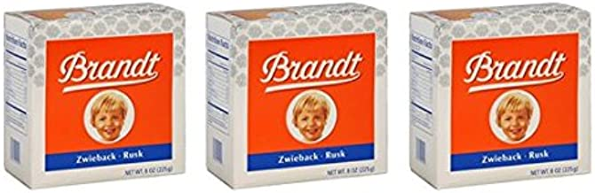 Brandt Zwieback Rusk Toast - 8oz (Pack of 3)
