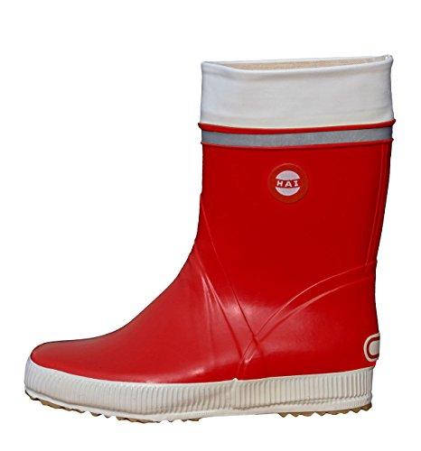 Nokian Footwear Hai - Wadenhohe Gummistiefel für Damen und Herren, handgefertigt aus Naturkautschukmischung, 38 EU, Red