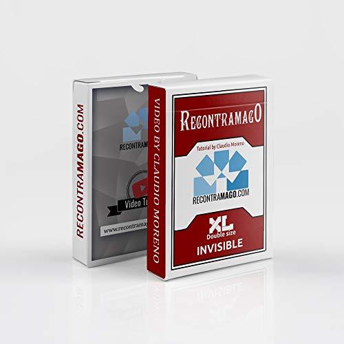 RecontraMago Los Mejores Trucos de Magia con Cartas Ahora tamaño XL - Vídeo Exclusivo por Claudio Magia Profesional para niños y Adultos (Invisible)