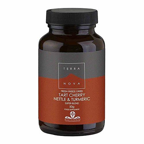 Terra Nova Tart Cherry, Nettle and Turmeric Super Blend (50g powder suitable for Vegetarians and vegans)