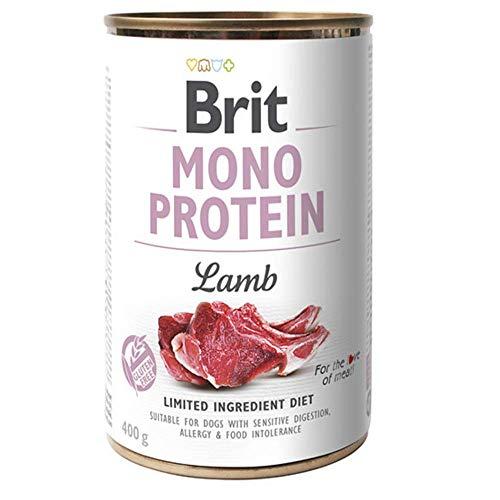 Brit Cibo Umido per Cani all' Agnello - Mono Proteico - Grain Free e Gluten Free - Confezione da 6 Scatolette X 400 Gr - 2.4 kg