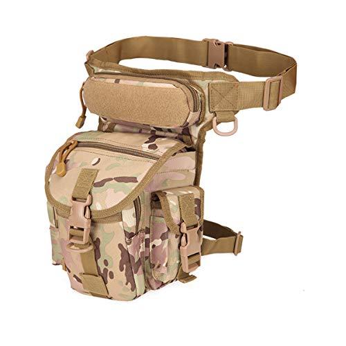 LUOEM Poche de Jambe Militaire de Sac de Taille imperméable extérieure pour Le vélo randonnée Camping (Camouflage CP)