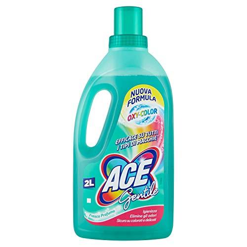 ACE Gentle – Fleckenentferner für farbige und empfindliche Stoffe, OXY-Color-Formel – 2 Liter Flasche, Weiß, 2 l, 2000