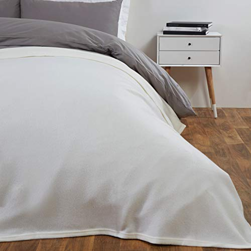 Dreamscene - Manta de Forro Polar (150 x 200 cm, 100% poliéster), Color Beige
