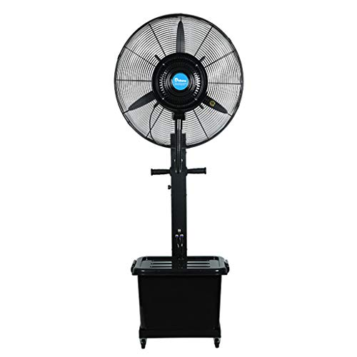 Standing Pedestal Fan 30-Inch Electric Fan Atomization Cooling Vertical Spray Fan 3 Speeds Set 41L Large Capacity Water Tank Outdoor Large Space Best Choice