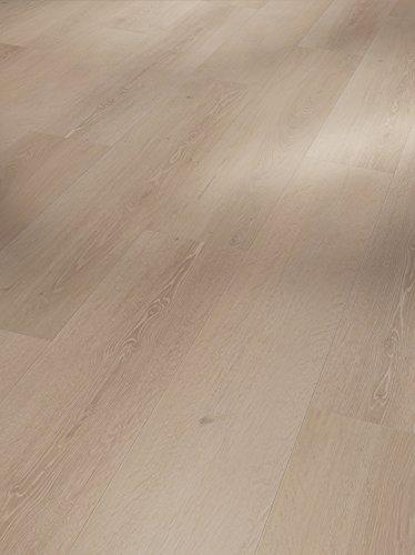 Parador Vinyl Classic 2050 - Vinylboden Eiche Skyline perlgrau 1-Stab - Hochwertiger, elastischer Bodenbelag in Holz-Optik, leise und komfortabel mit Klick-Verlegung