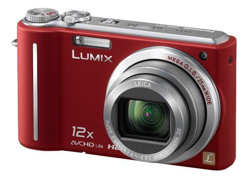 Panasonic DMC-TZ7EG-R Digitalkamera (10 Megapixel, 12-fach opt. Zoom, 7,6 cm Display, Bildstabilisator) rot