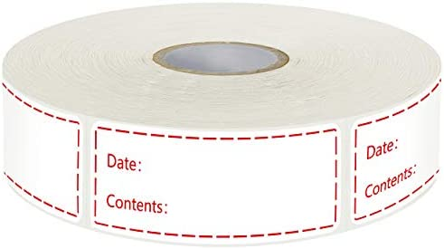 500 Removable Freezer Pantry Labels Set Water Oil Resistant with Perforation Line for Food Containers product image