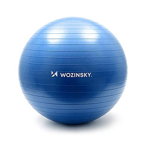 Wozinsky Pelota de gimnasia y pilates, 65 cm, color azul