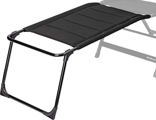 BERGER Tesino XL Beinauflage Stuhl Camping Fußablage Auflage Aluminium Ablage schwarz Zubehör